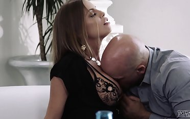 Horny MILF Britney Amber bends over painless nothing is pleasant painless doggy fuck