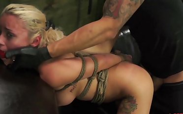Brutal torture and shagging with a dick and a leman machine for Marsha May