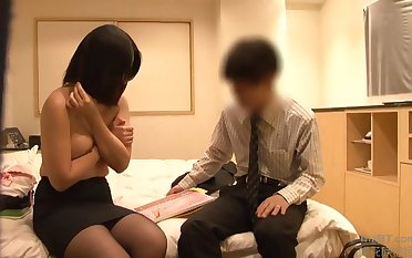 Japanese Tryst Colleague Coitus Game - prexy Asian babe gets cumshot
