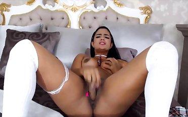 Sexy Latina With Awesome Body Riding Dildo