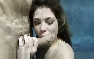 Underwaterblowjob film over 11