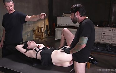 Submissive Alex Harper submits back arousing bondage fuck