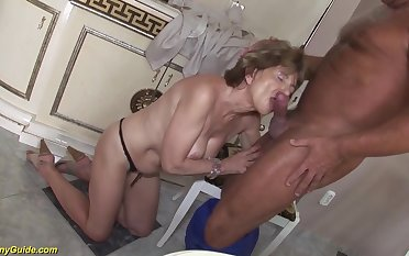 Hairy 70 years old mom anal sexual connection with a boyfriend