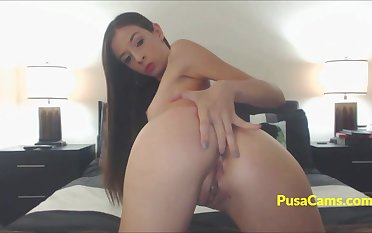 Simmering Brunette Teen Amateur Intense Orgasm