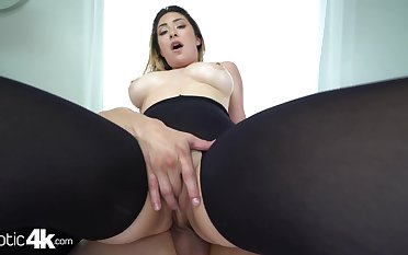 Latina girl next door with a stripper body fucks as if she's possessed