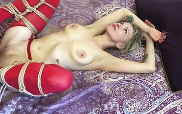 Prepared for Bound Fuck, Shibari Bondage Horny Wet Russian MILF