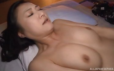 Passionate lovemaking on hammer away bed with comely Japanese Nagasawa