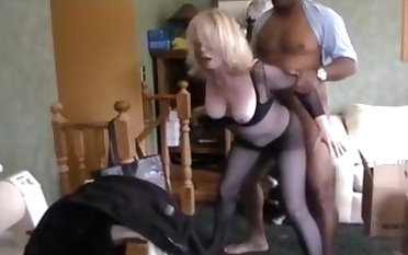 Blonde grown-up wife get fucked by bbc and hubby watch