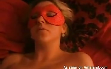 This masked hoe just wants to be used have a weakness for a sex toy and she loves doggy style