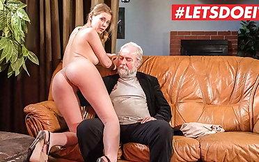 LETSDOEIT - Sexy Waitress Casey A. Hard Sex With Consumer