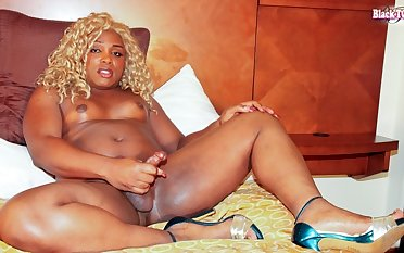 Megan Goodhead in Megan Goodhead Cums For You - BlackTGirls
