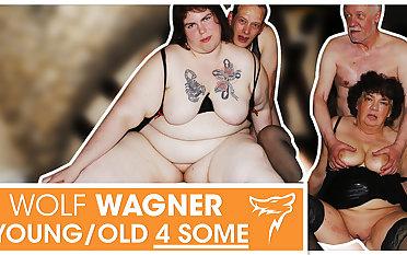 Swinger orgy! MILFs get boned & swallow cum! WolfWagner.com