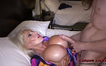Massive jugged, platinum-blonde grandma doesn't plan to stop penetrating men, because it perceives so A-