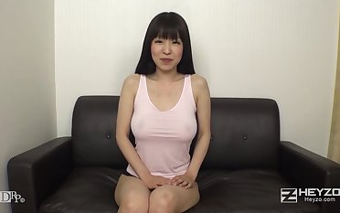 Busty Asian babe masturbation and hard fuck