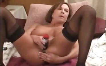 Hot impenetrable milf huge squirt with dildo in ass