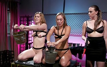 Pulse lesbian BDSM threesome with Chanel Preston, Ella Nova and Christy Love