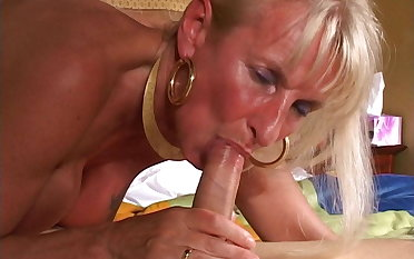 Horny blonde mature ganbanged in the caravanserai