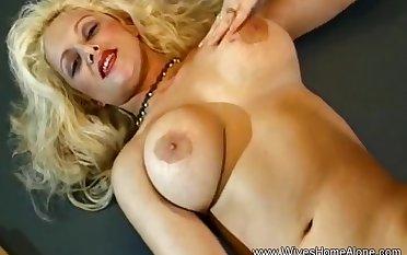 Nina Whett in White Boots Trashy Blonde Milf Unsurpassed Arouse Her Pussy
