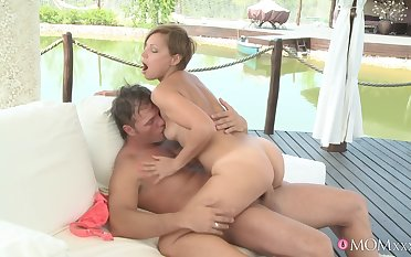 Insolent babe just about small tits loves riding like a luminary