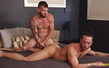 Muscular lads use their chunky dicks for the ultimate happy-go-lucky fuck