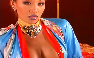 Sensual lovemaking with round boobs Asian pornstar Miko Lee