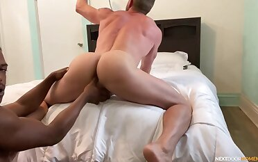 Vigorous anal in POV happy-go-lucky porn around a black dude and his waxen follower groupie