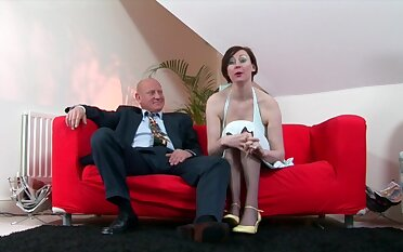 Horny mature Paul Black with nice inexperienced tits gets fucked in favour