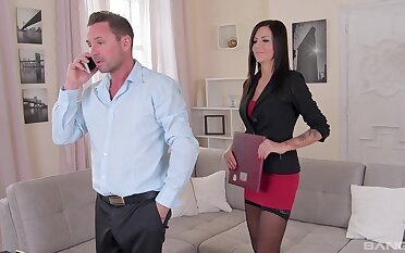 Slim MILF is intrigued by this man's big inches