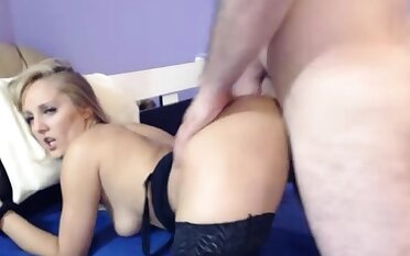 Dabbler housewife swallows load of cum on webcam