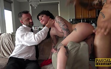Tattooed babe here fucked in venal scenes of maledom