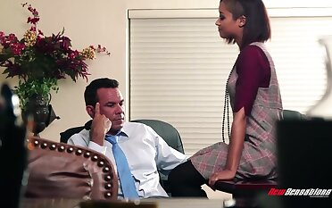 Ebony give one's word Skin Diamond seduces will not hear of white boss Steven St Croix