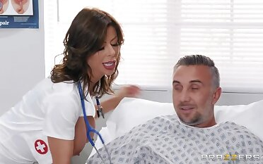 Alexis Fawx gets fucked away from her patient in a routine checkup
