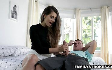 Long haired sexy cowgirl with juicy ass Sofie Reyez keeps riding fat prick