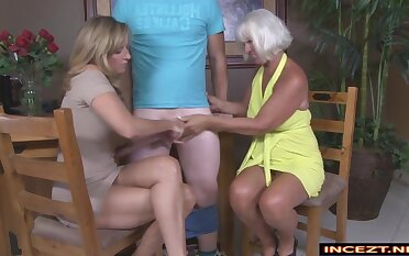Two Grown up Ladies Spasmodical A Lucky Guy