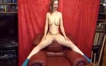 Blonde MILF voyeur watching me masturbate