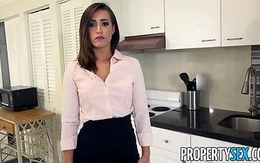 PropertySex - Real estate agent fucks boss to keep job