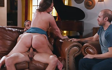 Big booty girl, Maddy OReilly, insane cuckold pleasures