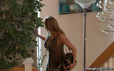 Briana comes home and finds her son's friend