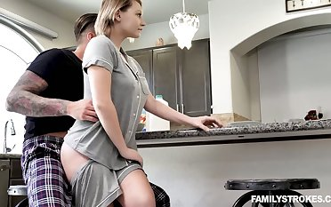 Stunning prexy cowgirl Cara May is poked doggy darn great encircling the morning