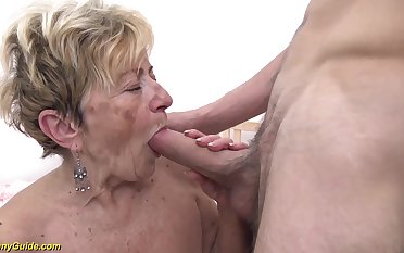 horny 90 seniority old granny gets extreme impenetrable depths fucked more her prudish cunt wits a young toyboy