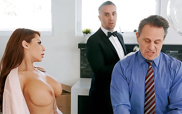 Horny nursemaid is ready to anal light of one's life housewife
