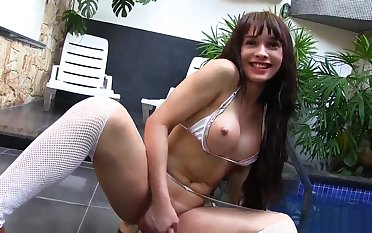 Lactating ladyman Esmeralda Brazil acquires Twinkling With Her arse