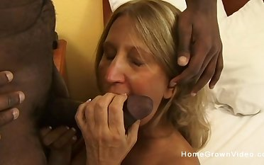 Old busty beauteous slut ass fucked by a fat louring horseshit