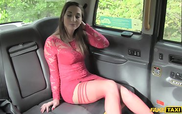 After a blowjob Jimena Lago got her tight pussy fucked in the car