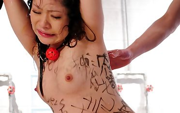 Ululu Nanami gets excited while plighted together with tortured in many ways