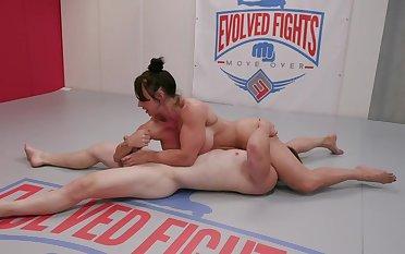 MMA porno parody with muscular matured laddie Brandi Mae
